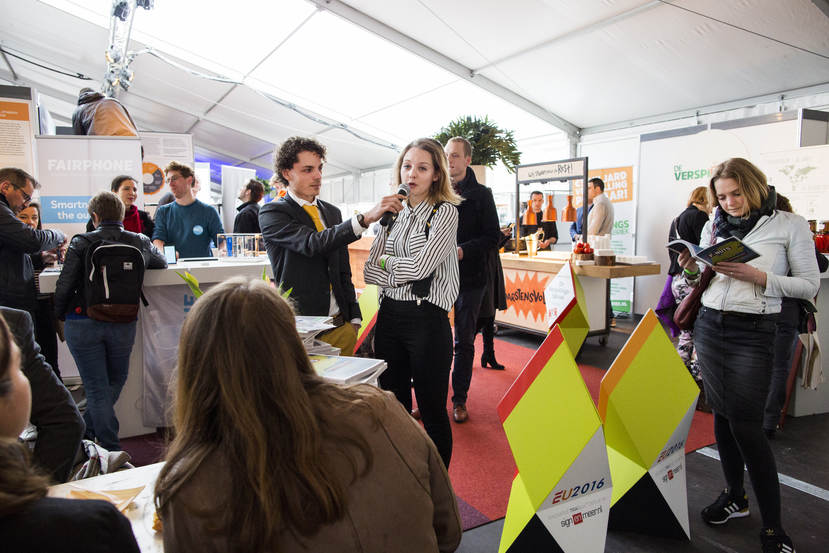 In gesprek tijdens Innovation Expo 2016